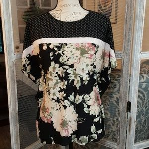 Floral Butterfly Sleeve Top